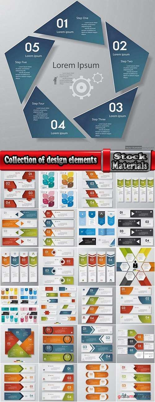 Collection of design elements #1-25 Eps