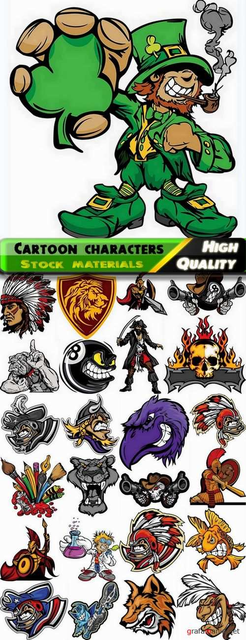 Funny cartoon characters in vector from stock #6 - 25 Eps