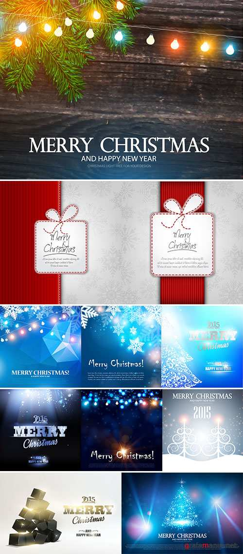 Stock Vector Merry Christmas abstract background, Vector illustration