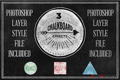 GraphicRiver Chalkboard Photoshop Layerstyle