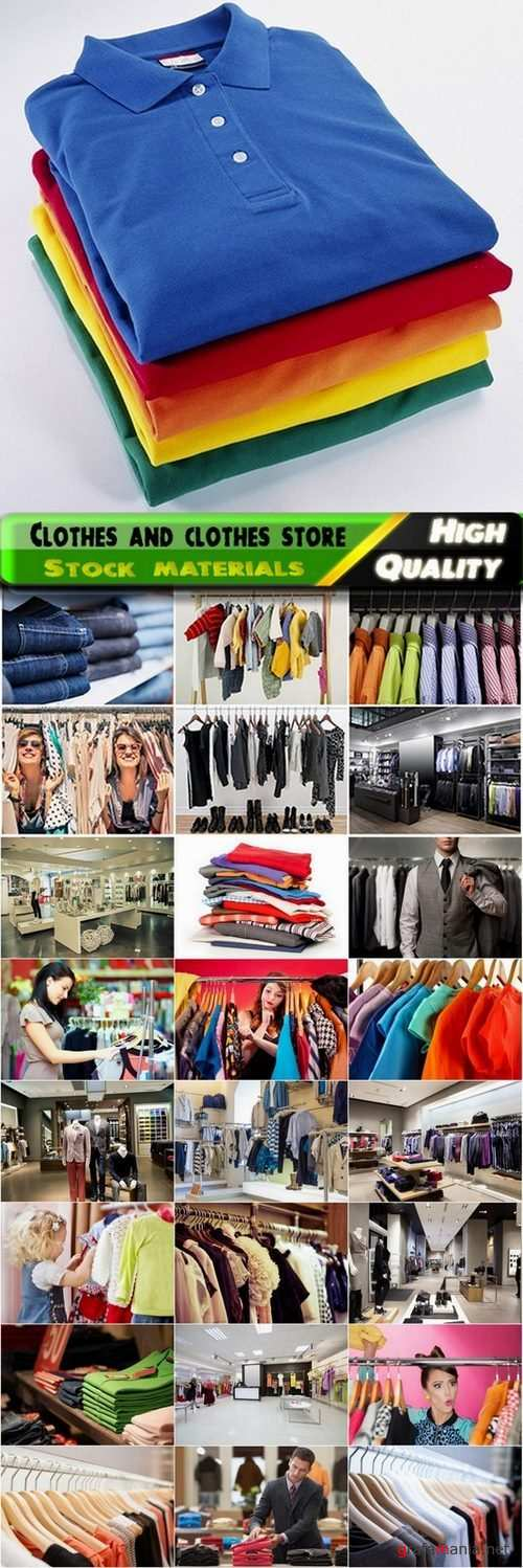 Different clothes and clothes store interior Stock images - 25 HQ Jpg