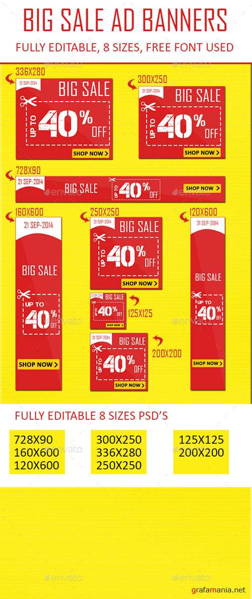 GraphicRiver - Flat Color Sale Web Banner Ads 9017723