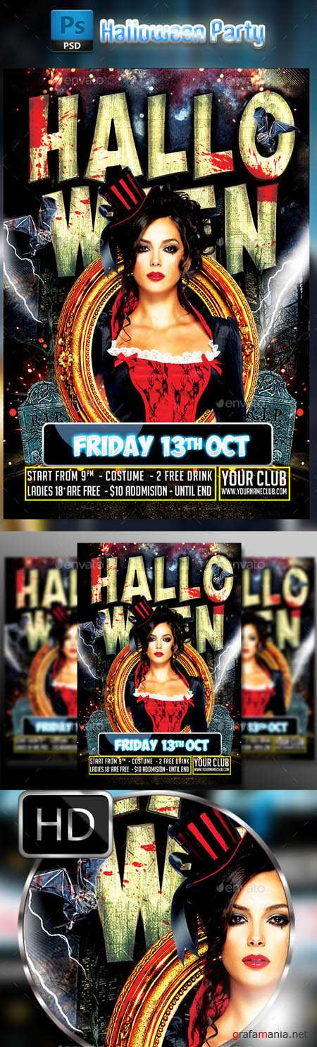 GraphicRiver - Halloween Party Flyer #3 9072026