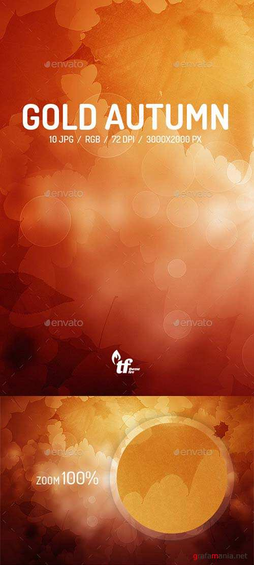 GraphicRiver Gold Autumn Backgrounds