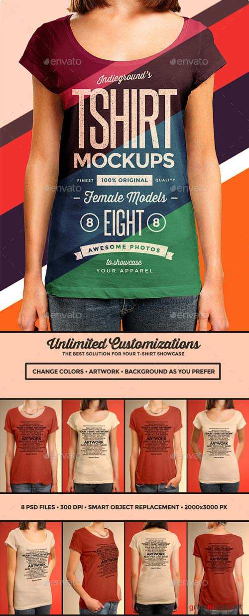 GraphicRiver Women T-Shirt Mockups