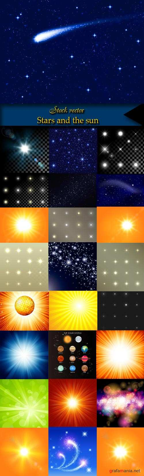 Stars and the sun