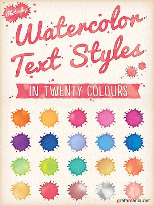 GraphicRiver Watercolor Text Styles