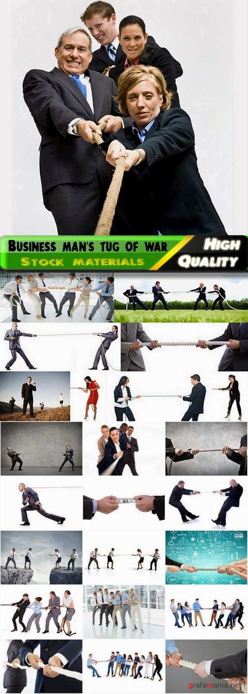 Business man's tug of war Stock images - 25 HQ Jpg