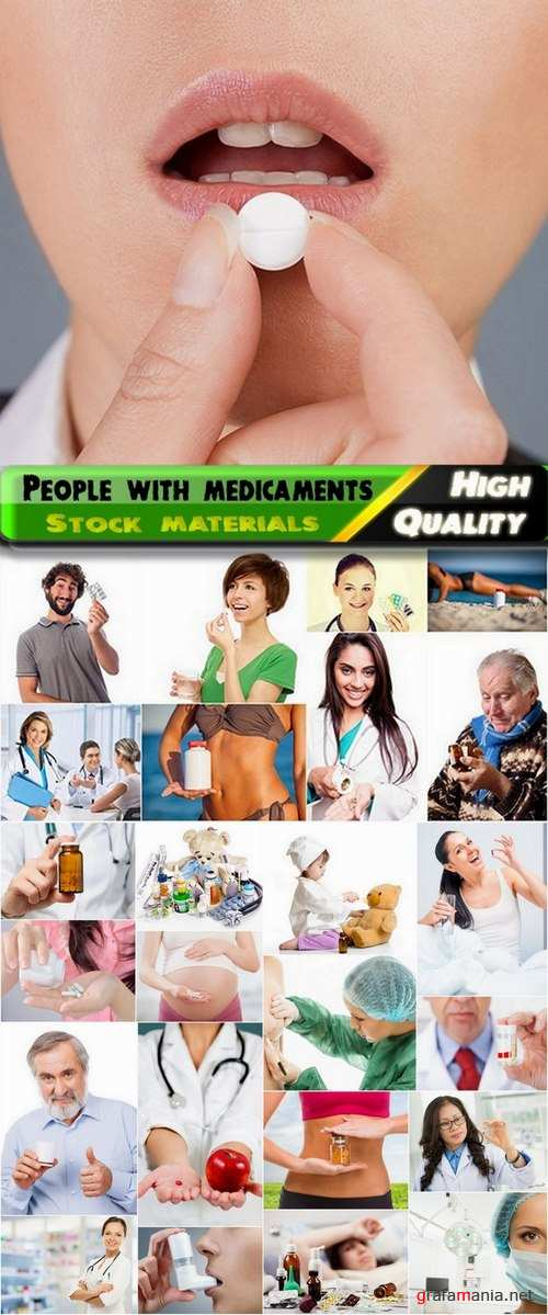 People and doctors with medicaments Stock images - 25 HQ Jpg