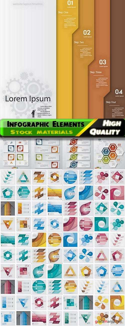 Infographic Design Elements in vector set from stock #90 - 25 Eps