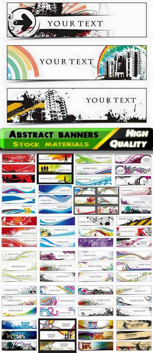 Abstract banners and headers in vector from stock - 25 Eps