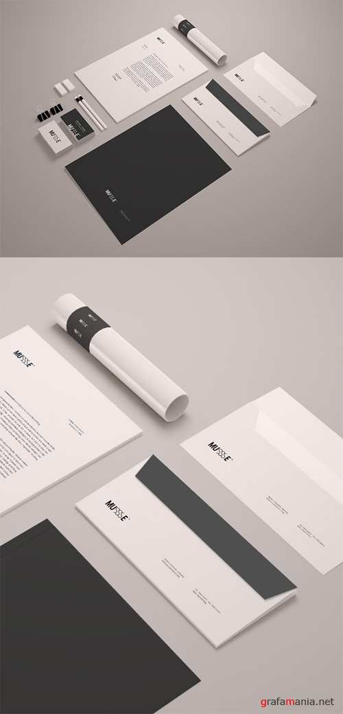 Stationary Mockup Template PSD v2