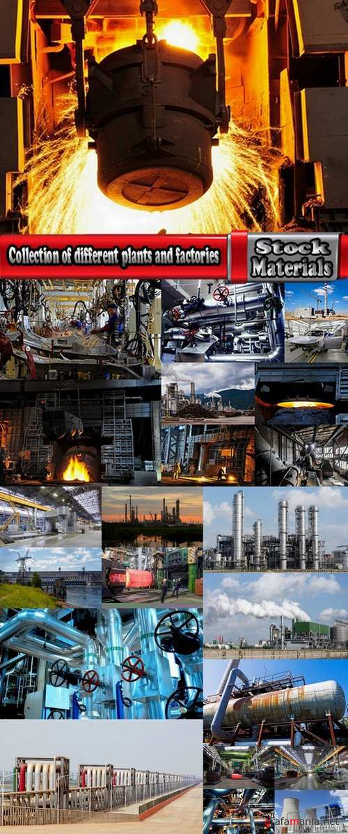 Collection of different plants and factories 23 UHQ Jpeg