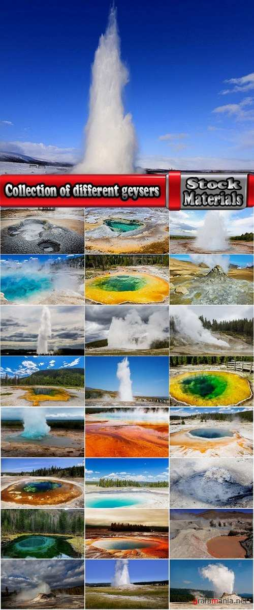 Collection of different geysers 25 UHQ Jpeg