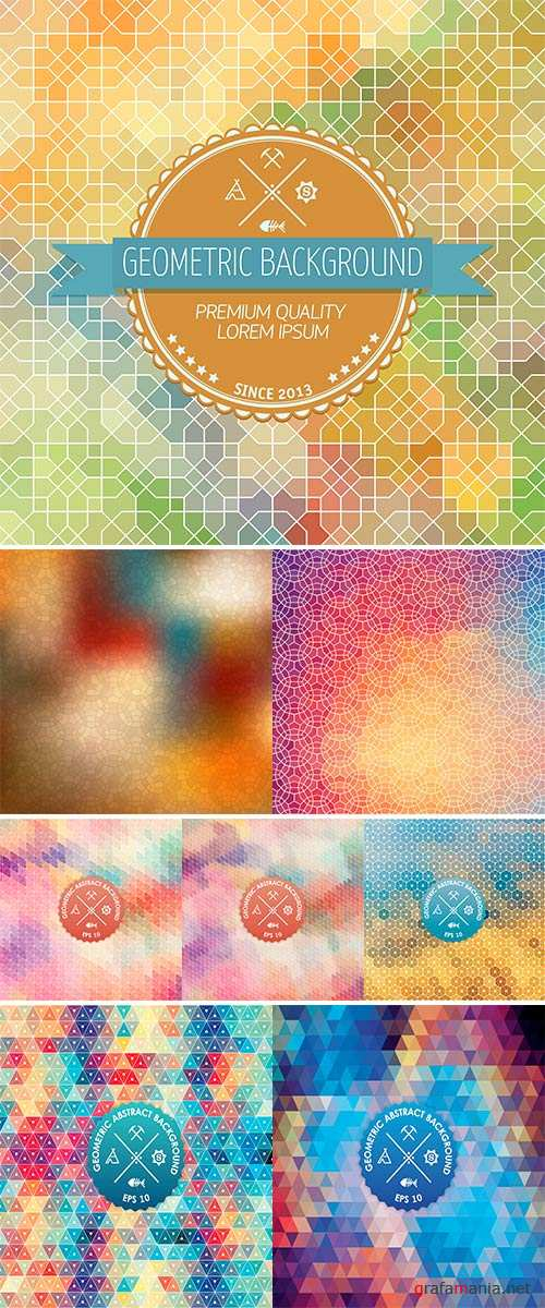 Stock Vector Abstract geometric background, Elegant background for cards and invitations
