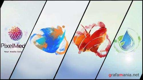 Minimal Logo V03 Ink Ident - After Effects Project (Videohive)
