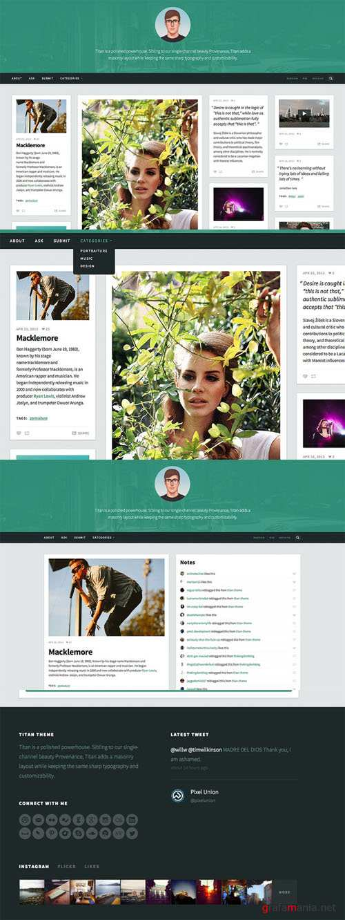 CreativeMarket - Titan Tumblr Theme
