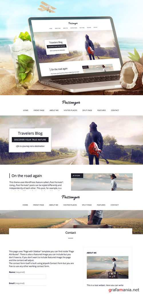 CreativeMarket - Passenger-Travelers WordPress Theme