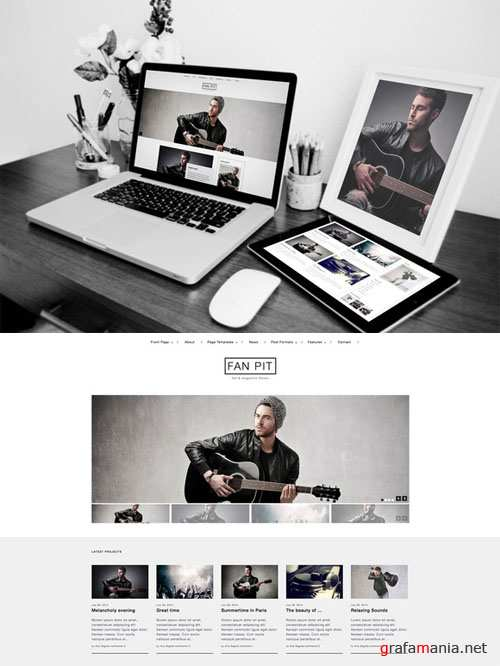 CreativeMarket - Fan Pit - Fan and Magazine Theme