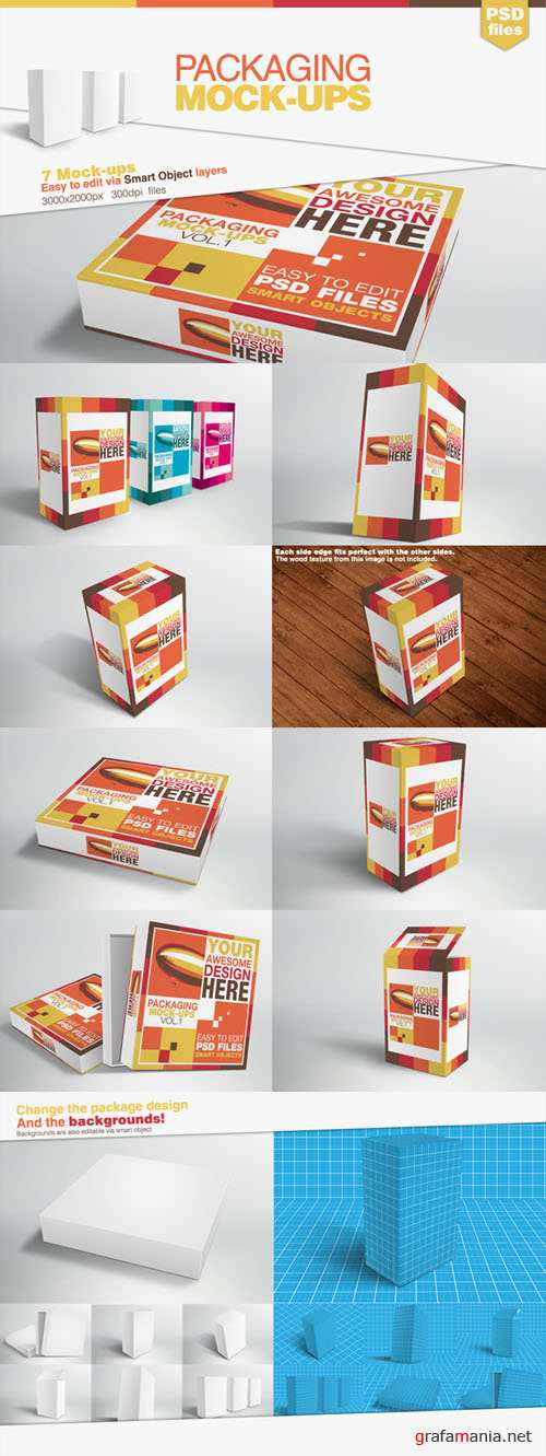Packaging Mock-up Templates