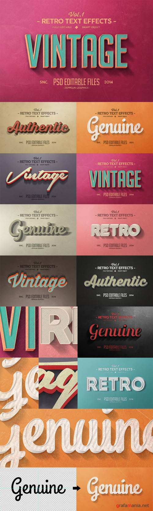 Vintage Text Effects Vol 1