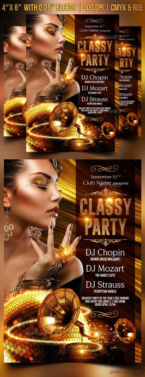 GraphicRiver - Classy Party Flyer Template 8961049