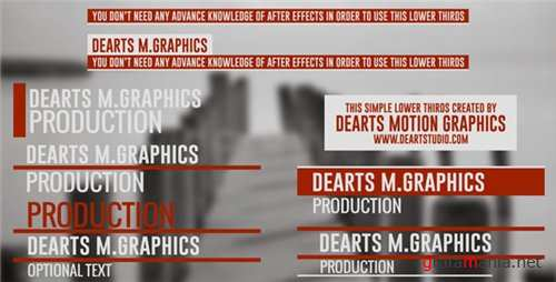 Clean Elegant Lower Third - After Effects Project (Videohive)