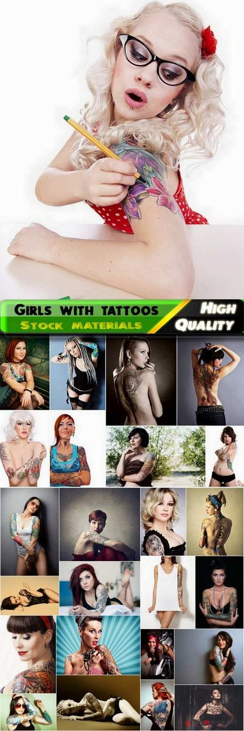 Girls with tattoos Stock images - 25 HQ Jpg