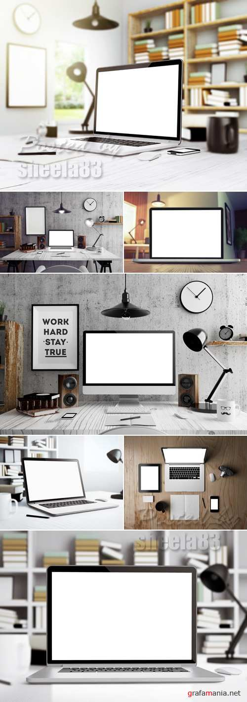 Stock Photo - Laptop with Blank Monitor