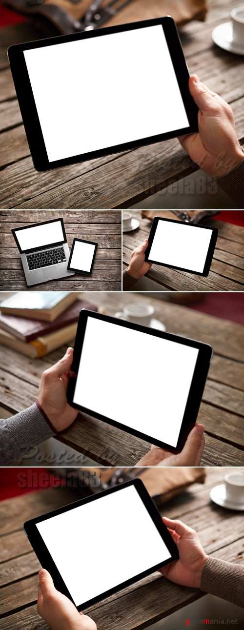 Stock Photo - Tablet PC with Blank Monitor