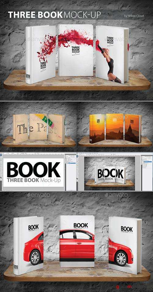 GraphicRiver Three Book Mock-Up