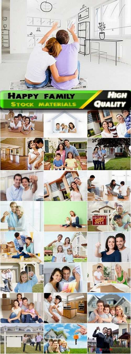 Happy family bought a new house Stock inages - 25 HQ Jpg