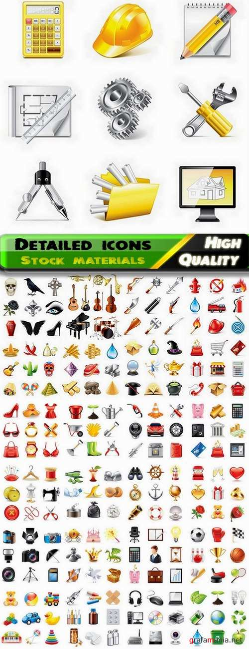 Detailed icons in vector set from stock #13 - 25 Eps