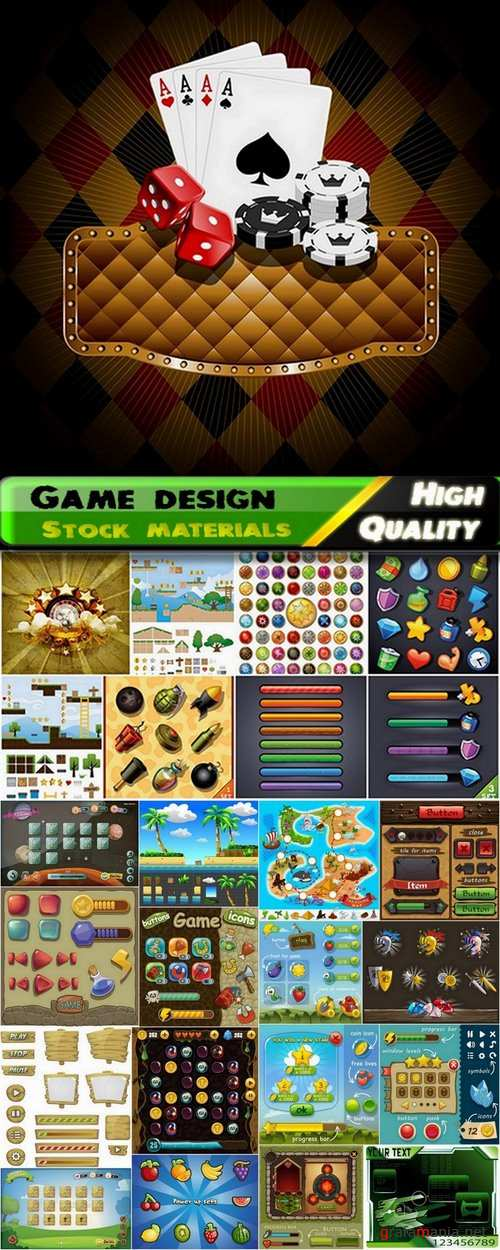 Vector elements for game design from stock - 25 Eps