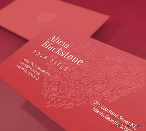 CreativeMarket - Heart Business Card