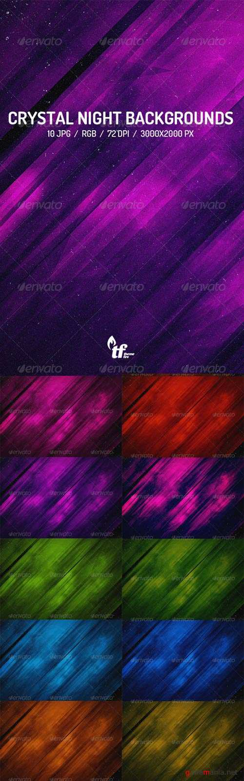Crystal Night Backgrounds