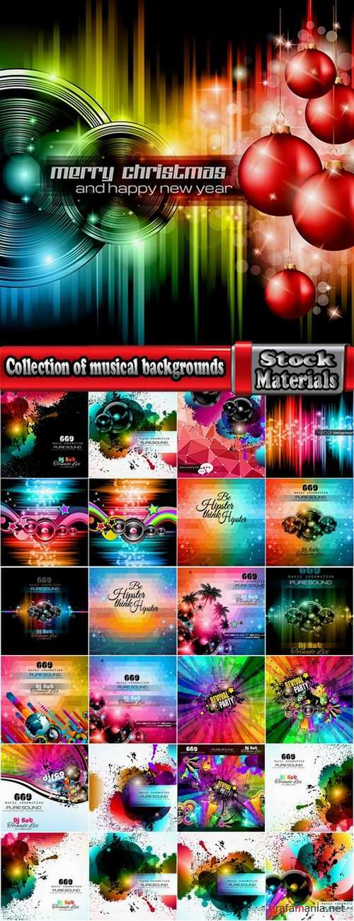 Collection of musical backgrounds 25 Eps