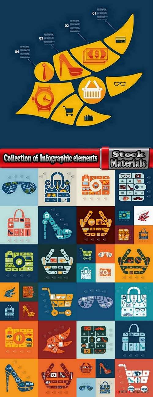 Collection of Infographic elements #2-25 Eps
