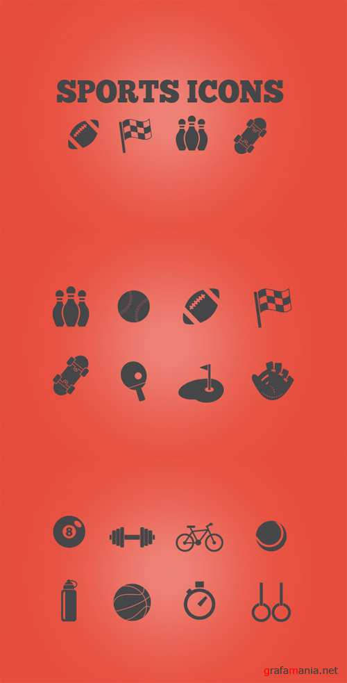 Sport Icons Vector Set