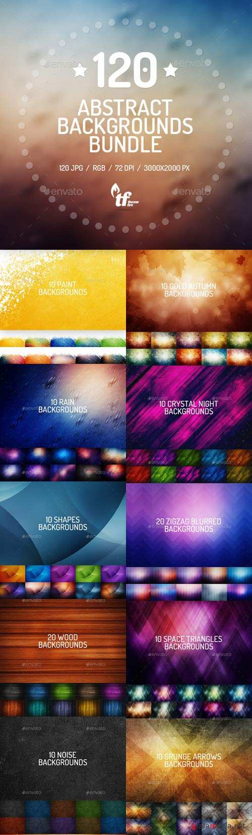 120 Abstract Backgrounds Bundle
