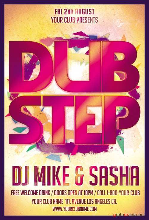 Flyer Template - Dub Step Party