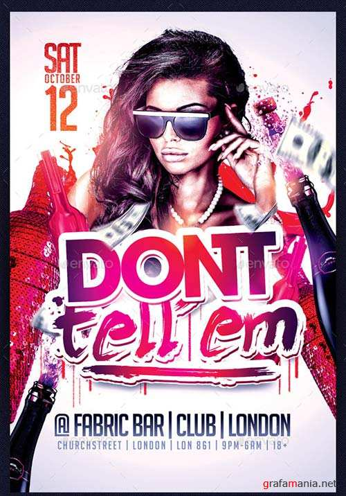 GraphicRiver Don't Tell Em Flyer Template PSD