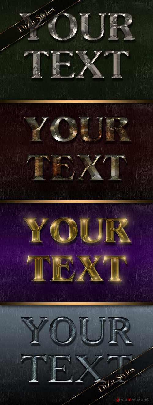 Metal luster text effect