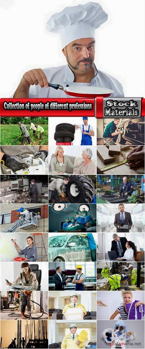 Collection of people of different professions 25 UHQ Jpeg