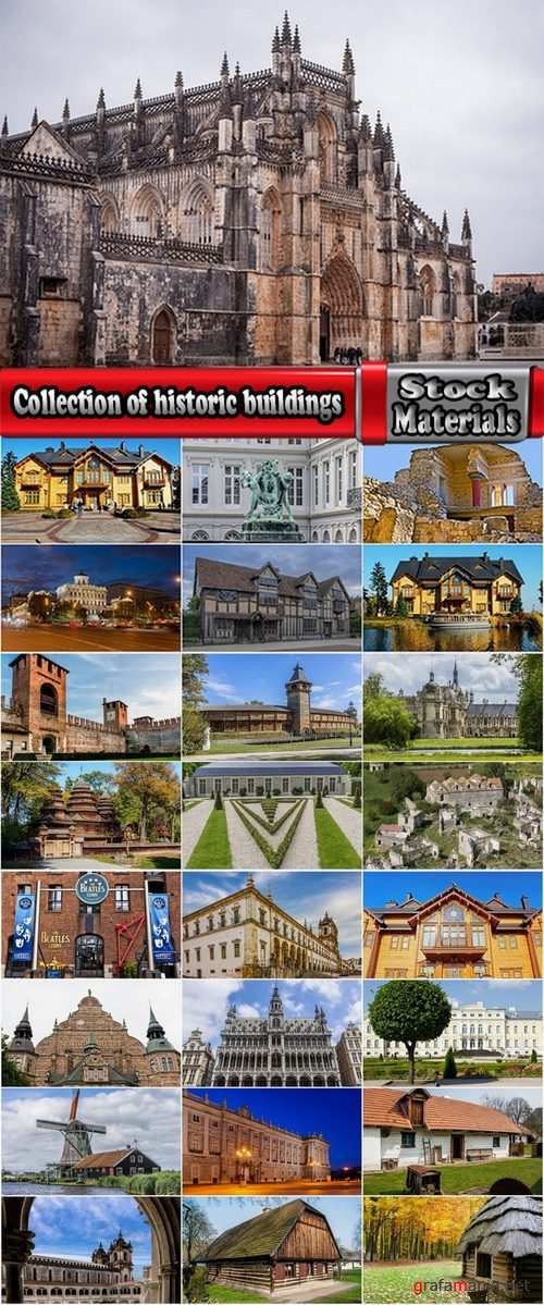 Collection of historic buildings 25 UHQ Jpeg