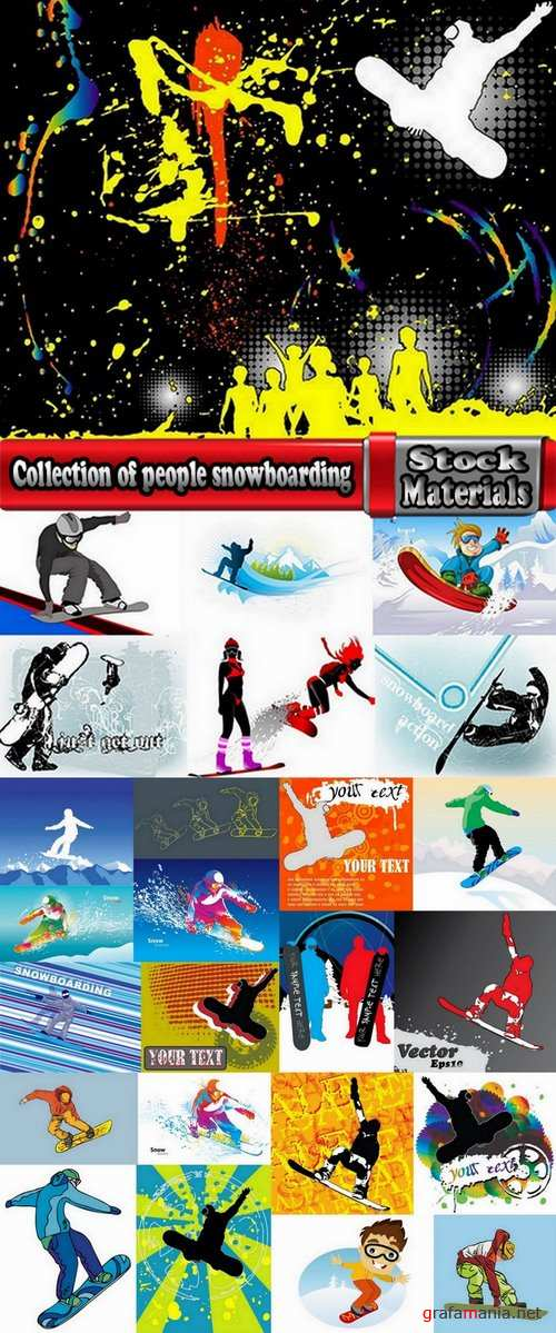 Collection of people snowboarding 25 Eps