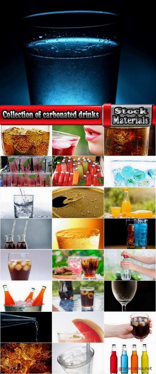 Collection of carbonated drinks 25 UHQ Jpeg