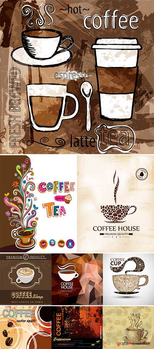Stock Vector Coffee background