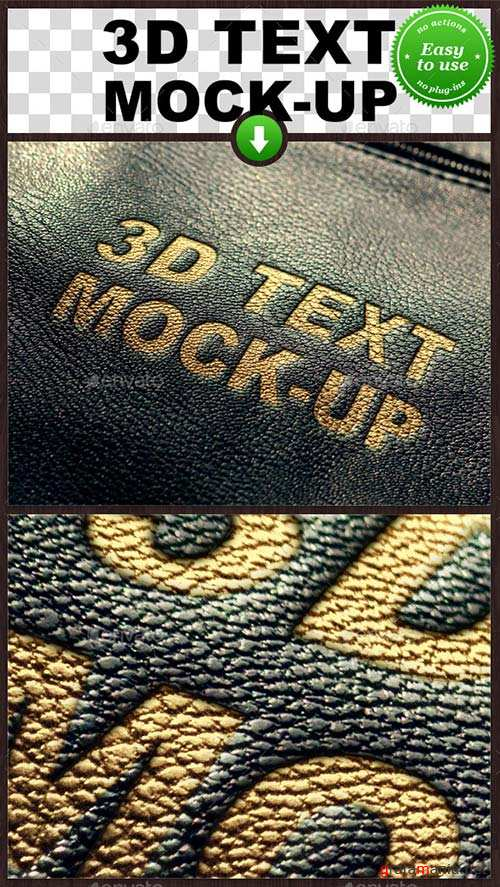 GraphicRiver Leather Text Mockup