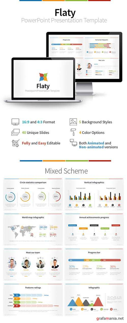 GraphicRiver Flaty PowerPoint Presentation Template